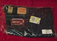 Vtg New Men Levis 44 X 30 Boot Cut Jeans 517 Indigo Denim Pants Levi's Dark Blue