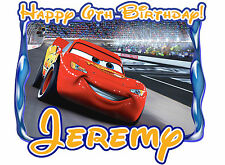 Cars Disney Lightening McQueen Birthday Party t Shirt Iron On Transfer Decal