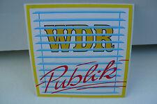 ALTER WDR PUBLIK FERNSEHEN TV  AUFKLEBER REKLAME STICKER WERBUNG !!!!