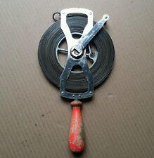 Vintage Lufkin Surveyors Engineers Steel Tape Chain 100ft Raised Gradations