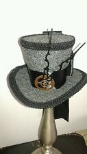 Mini Steampunk Fascinator Cocktail Top Hat Gothic Mad Hatter Mardi Gras