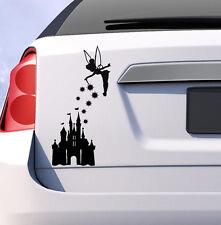 Tinkerbell and disney castle car decal vinyl sticker Disney JDM novelty gift uk