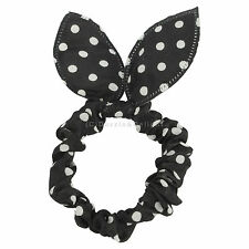 PONYTAIL HOLDER BOW RABBIT EARS BOBBLE SCRUNCHIE HAIR BANDS ELASTICS WITH TAILS