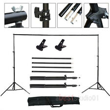 Adjustable 10ft Background Support Stand Photo Backdrop Crossbar Kit Photography