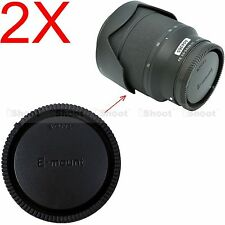 2x Rear Cap Cover for Sony Micro SLR Camera E FE SEL Mount Lens E10-18/4