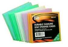 2 X PACK OF 10 NEW DURABLE CD DVD BLU-RAY CASES ASSORTED COLOURS, TOTAL 20 CASES