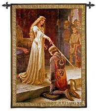 """Medieval Tapestry The Accolade Knight Pic Leighton - BS 31""""x40"""""""