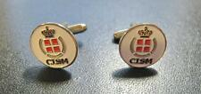 CISM DENMARK UNION OF MILITARY SPORT COUNCIL OFFICIAL CUFFLINKS SEALED