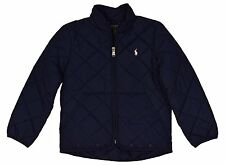 NWT Polo Ralph Lauren Little Girls' Quilted Logo Jacket youth sz 5 navy pink new