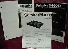 TECHNICS SH-9010 PARAMETRIC EQUALIZER MANUALS 35 Pages