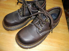 "DR MARTENS BROWN ""AIR WALK"" LACE UP SHOES - WOMEN'S SIZE 8 / MEN'S SIZE 7"
