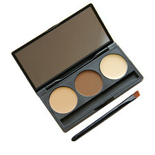 New 3 Colors Face Make Up Powder Foundation Concealer Contouring Palette Tools