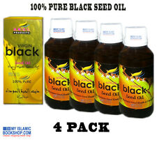 COLD PRESSED VIRGIN BLACK SEED OIL 100% PURE NIGELLA SATIVA OIL 100ml PACK OF 4
