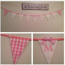 ? Filles LAURA ASHLEY Rose VICHY Shabby Chic Bunting personnalisé?