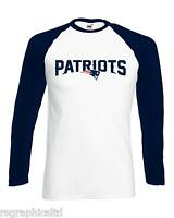 NEW ENGLAND PATRIOTS LONG SLEEVE T-shirt NFL USA SUPER BOWL ALL SIZES! FAST POST