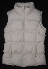 LANDS' END ~ Polyester Down Puffer Vest ~ Junior Girls Small 7/8 - White