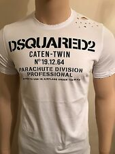 "Dsquared2 Low Speed Parachute Distressed Tshirt Cap 2017 LIMITED XL 42"" Chest"