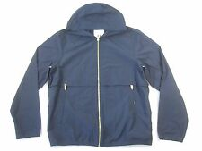 U CLOTHING M1004A NAVY BLUE XL HOODED WIND BREAKER JACKET MENS NWT NEW