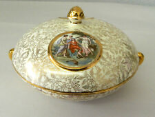 Vintage Empire Ware England Shelton Porcelain Gold Trimmed Dish w/ Lid #2