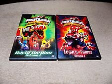 2X LOT DVD Power Rangers Dino Thunder Vol 1 Day of the Dino,LEGACY OF POWER