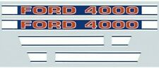 F503HB Brand New Ford Tractor 4000 Hood Decal Kit Set