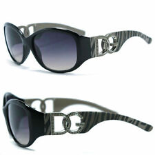 Womens DG Eyewear Sunglasses Zebra Print Temple UV Protect - DG171