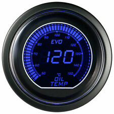 52mm Autogauge Digital EVO Gauge OIL TEMP METER RED/BLUE SMOKE LED - °C
