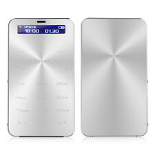 GSM 850/900/1800/1900 Ultra Thin Slim Mini Card Pocket Cell Mobile Phone Silver