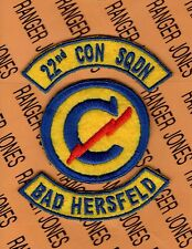 US Army 22nd Constabulary Squadron BAD HERSFELD Germany patch tab set