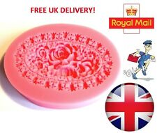 Small Rose Flower Silicone Mould Fondant Cake Topper Modelling Tools - UK Seller