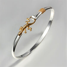 Lizard Golden Silver Bracelet Sterling Bangle Jewelry Plated Christma Gift