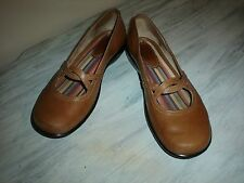 CLARKS Womens 70433 Light Brown Leather Shoes Size 8M Made In Brazil NICE