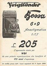 W7830 Apparecchio Fotografico VOIGTLANDER Bessa - Pubblicità del 1929 - Old ad