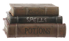 RAZ Imports Resin Stack Of Spell Books Prop/Box-Titles: Curses, Spells, Potions