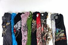Mixed Brand Sinful by Affliction Lot of 11 Juniors Graphic T-Shirts Small K7407