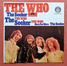 THE WHO-THE SEEKER/HERE FOR MORE YUGOSLAVIAN 7'' PS 1970 UNIQUE LABEL