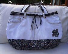Handmade large denim tote bag