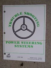 1984 Mack Truck Troubleshooting Power Steering Systems Front Axle Manual   U