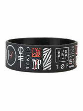 21 Twenty One Pilots Symbols Logo Rubber Bracelet Wristband Licensed Jewelry NEW