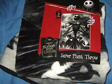 NWT The Nightmare Before Christmas Jack Oogie Grave Disney Plush Throw Blanket