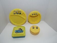 NEW 4 PC DESPICABLE ME MINIONS DINNER PLATES, (1) SNACK, (1) SANDWICH CONTAINER