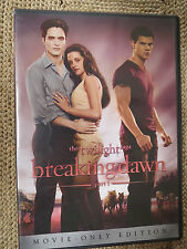The Twilight Saga: Breaking Dawn - Part 1 (DVD, 2012) MOVIE-ONLY EDITION