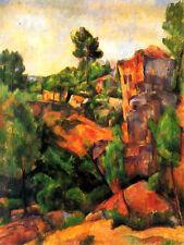 Paul Cezanne Bibemus Quarry Fine Art Canvas Giclee Sample Print