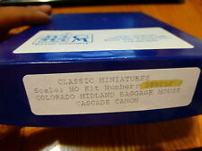 Classic Miniatures HO #39001C  Col. Mid. Gaggage House / Cascade Canon Kit Form