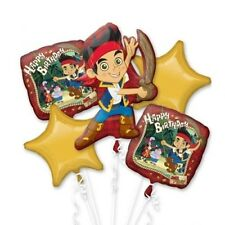 Jake The Neverland Pirate Birthday Party Favor  5CT Foil Balloon Bouquet