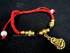 Feng Shui Happy Money Buddha Golden Bead Good Luck Lucky Charm Asian Bracelet