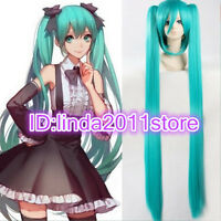 Long Straight Hatsune Miku Wig Ponytails Cosplay Synthetic Hair Anime Wigs