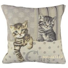 Retro Vintage Kitten Cat Pet Home Knitted Pillow Case Cushion Cover 18''