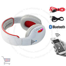 LED Wireless Bluetooth 4.2 Stereo Headset Super Bass Music Grey Headphone UKES