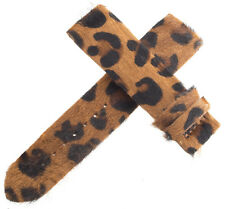 Authentic Womens Van Der Bauwede 20x19mm Brown Leopard Pattern Watch Band NEW